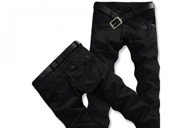 BLACK MAN CASUAL PANTS