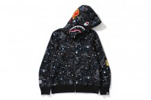 SPACE FULL ZIP CAMO SHARK HOODIE