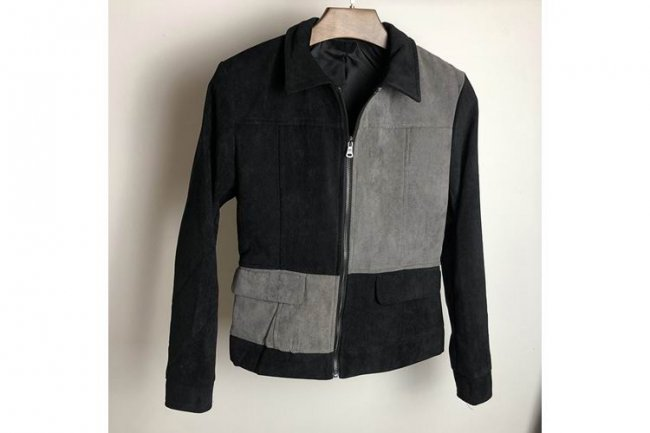 BLACK GREY FASHION JACKET