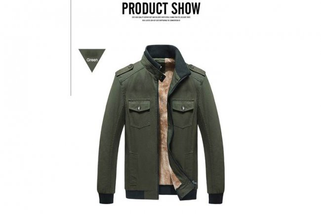MILITARY GREEN FASHION JACKET